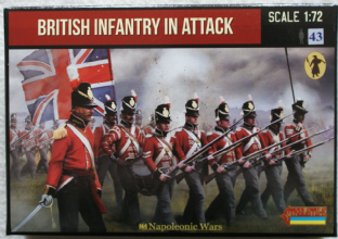 Strelets 1/72 ST0145 British Infantry In Attack Waterloo (Napoleonic)